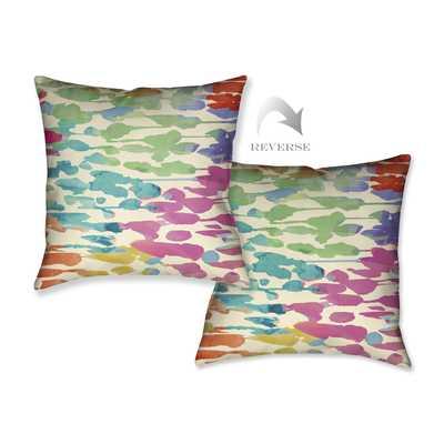 Splashes of Color Throw Pillow - Wayfair