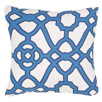 Ecom Outdoor Decorative Pillow Jaipur Blue - 18sq. - Polystyrene Beads Fill - Target