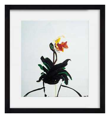 An Orchid - 15x12 - Framed - Domino