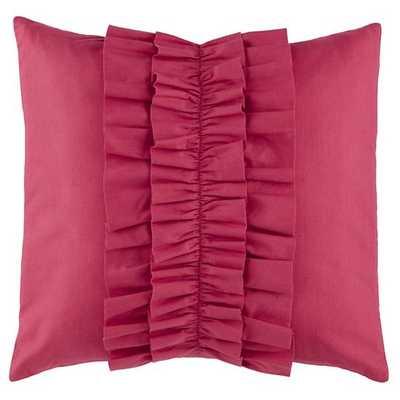 Hot Pink Ruffle Pillow - Land of Nod