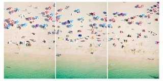 "Gray Malin, Kite Beach Dubai Triptych- 44""x32""- Unframed - One Kings Lane"