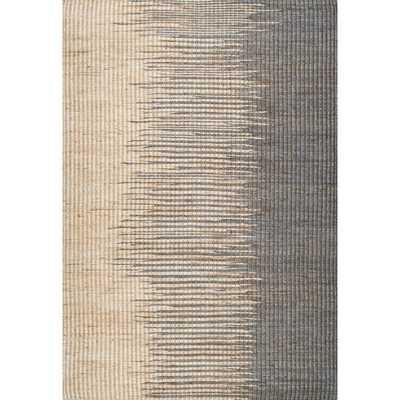 nuLOOM Handmade Natural Fiber Flatweave Ombre Jute Grey Rug - Overstock