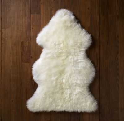 natural sheepskin wool rug - RH Baby & Child