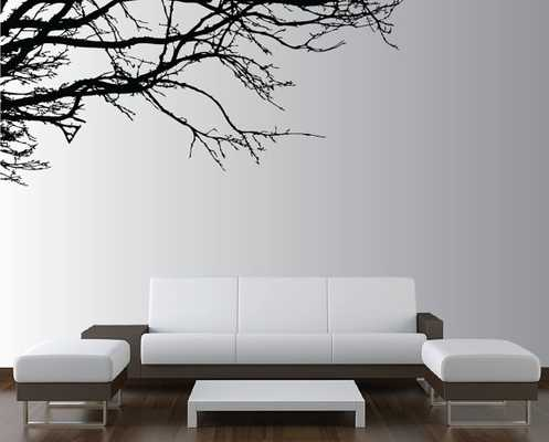 Large Wall Tree Nursery Decal Oak Branches Wall Art 1130-Black - Etsy