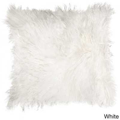 Natural by Lifestyle Brands Mongolian Sheepskin Pillow - Overstock