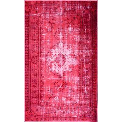 Vintage Inspired Adileh Overdyed Pink Rug (9'2 x 12'5) - Overstock