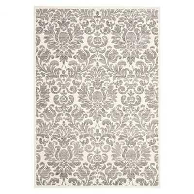 Porcello Grey & Ivory Area Rug - Wayfair
