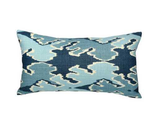 "Kelly Wearstler Bengal Bazaar LUMBAR Designer Pillow Cover in Teal - 1 side - 15"" x 24"" - Etsy"
