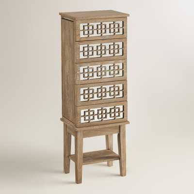 White Wood Lavarre Jewelry Armoire - World Market/Cost Plus