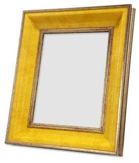 Faux Python Frame, 8x10, Yellow - One Kings Lane