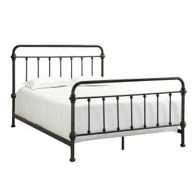 Calabria Metal Queen-Size Bed - Home Depot