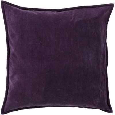 """Smooth Velvet Cotton Throw Pillow - Eggplant - 18"""" x 18"""" - AllModern"""