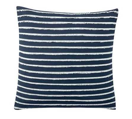 "Fringe Stripe Pillow Cover - NAVY/SURF SPRAY - 18""sq - Insert sold separately - Pottery Barn"