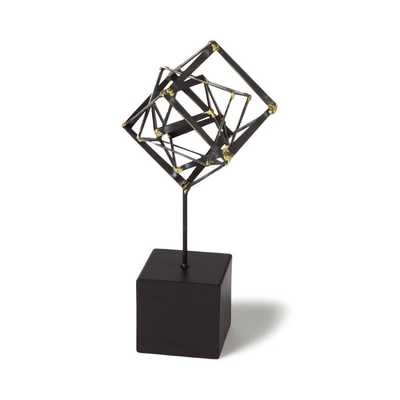 TILTED CUBE SCULPTURE - Small - Dwell Studio