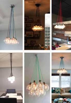 9 Clustered Pendant Light - Modern Chandelier - Etsy