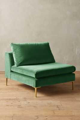 Velvet Edlyn Chair - Emerald - Anthropologie