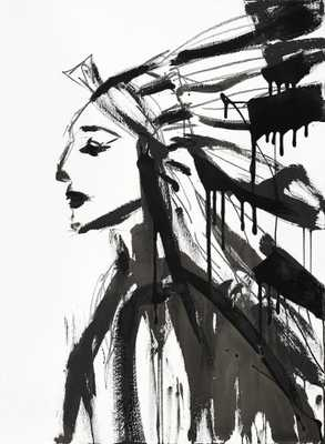 "Chief (Female) by Jenna Snyder-Phillips-20""x20""-Unframed - Domino"