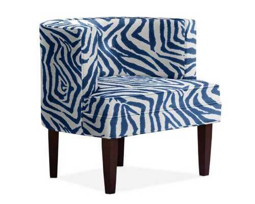 Geoffrey Chair, Zig Zag, Cotton, Navy - Williams Sonoma