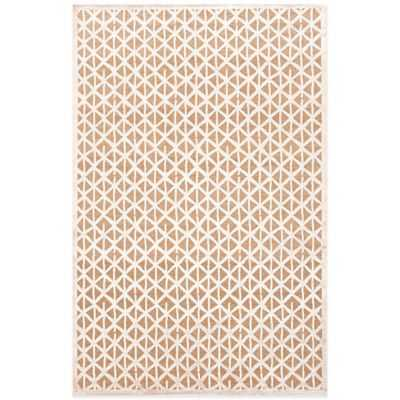 Jaipur Fables Stardust 7-Foot 6-Inch x 9-Foot 6-Inch Area Rug in Ivory/Brown - Bed Bath & Beyond