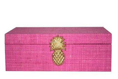 Raffia Pineapple Box - Society Social