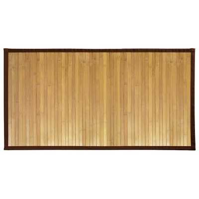 Superior Strength Water Resistant Natural Maple Colored Bamboo Bath Mat - Overstock