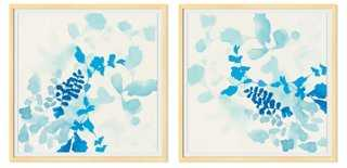 Jen Garrido, Watery Blues Diptych - One Kings Lane
