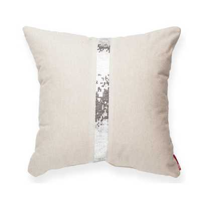 "Luxury Cross Sequin Linen Throw Pillow-17""x17""-Insert - Wayfair"