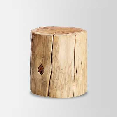 Natural Tree Stump Side Table - West Elm