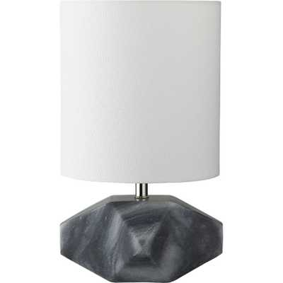 chamfer marble table lamp - CB2