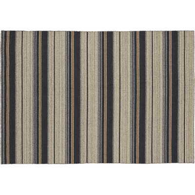 The Hill-Side workwear blanket stripe rug 6'x9' - CB2