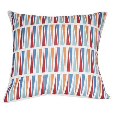 "Geometric Decorative Throw Pillow - Red - 21"" H x 21"" W - Polyfill - AllModern"
