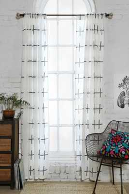 """Assembly Home Plus Sign Curtain - 52"""" x 84"""" - Urban Outfitters"""