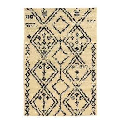 Oh! Home Moroccan Fes Ivory/Black Rug (3' x 5') - Overstock