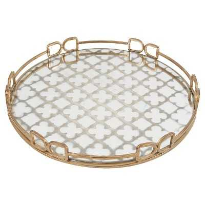 Mirrored Decorative Tray with Quatrefoil Design - Target
