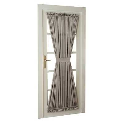 Sun Zero Seymour Room Darkening Door Panel with Tieback - Target