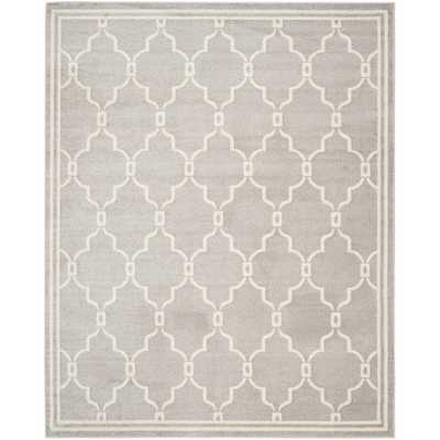 Safavieh Indoor/ Outdoor Amherst Light Grey/ Ivory Rug - Overstock