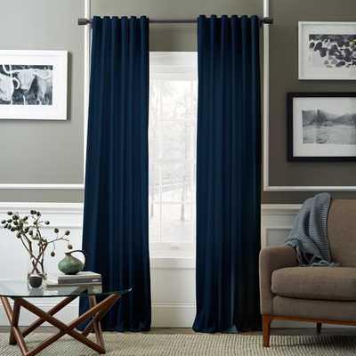 Velvet Pole Pocket Curtain - West Elm