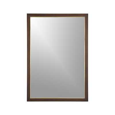 Blake Rectangular Wall Mirror - Sumatra - Crate and Barrel