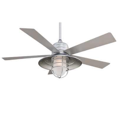 """54"""" RainMan 5 Blade Indoor / Outdoor Ceiling Fan-Galvanized - Wayfair"""