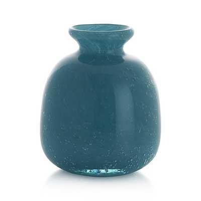 Myra Vase Aqua Medium - Crate and Barrel