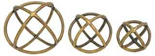 Asst. of 3 Brass Orbs - One Kings Lane