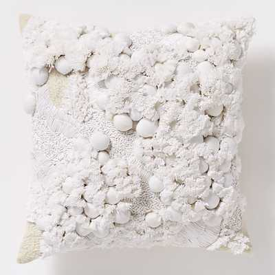 """Foliage Bloom Pillow Cover 16""""sq.-Without insert - West Elm"""