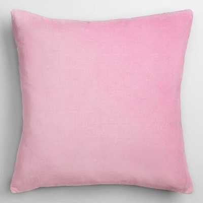 Mist Velvet Throw Pillow - World Market/Cost Plus
