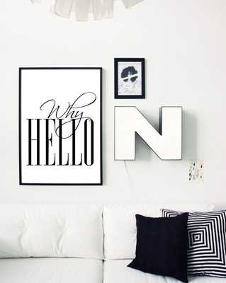 WHY HELLO Poster Scandinavian Print Fashion Quote Wall Art - Etsy