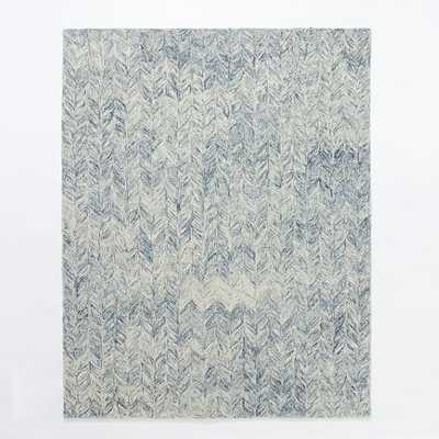 Vines Wool Rug - Blue Lagoon - 9' x 12' - West Elm