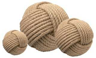 Asst. of 3 Jute Balls, Natural - One Kings Lane