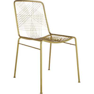 Alpha brass chair - CB2