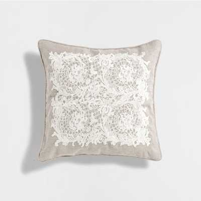 """LACE TRIM CUSHION-15.5"""" x15.5 """"- Insert Sold Separately - Zara Home"""