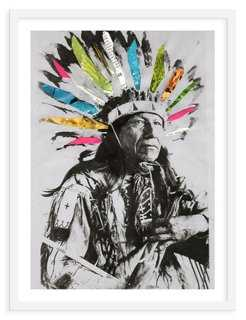 "Ben Giles, Native American - 19"" x 25"" - Framed - One Kings Lane"