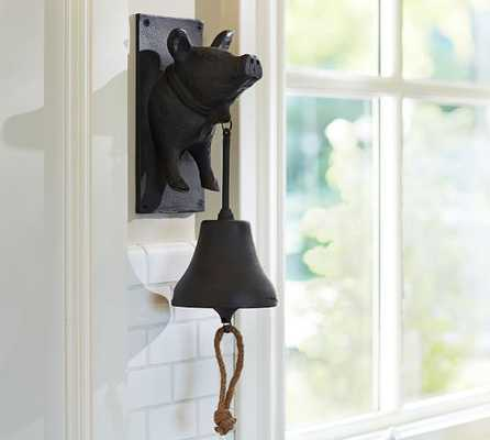 Vintage Blacksmith Wall-Mount Pig Dinner Bell - Pottery Barn